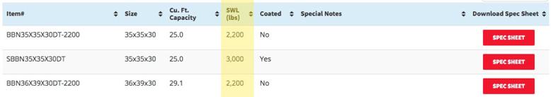 FIBC bulk bag list on National Bulk Bag's website