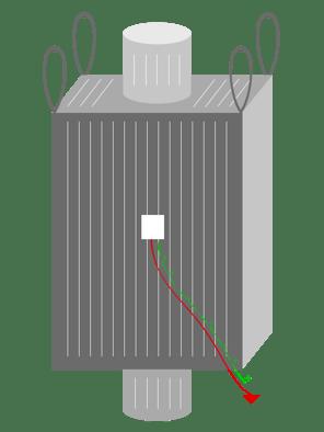 type C FIBC big bag, diagram of type C FIBC, National Bulk Bag